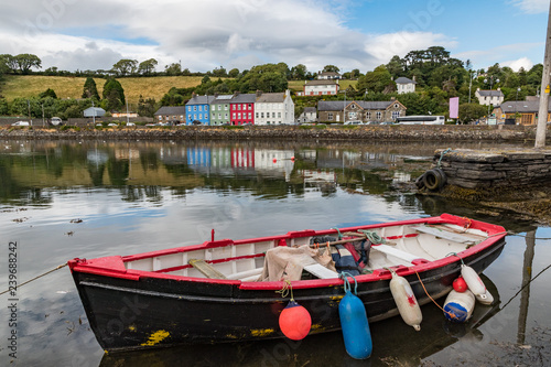 Old fishing boat docked in the small coastal  town of Bantry, Ireland Canvas Print