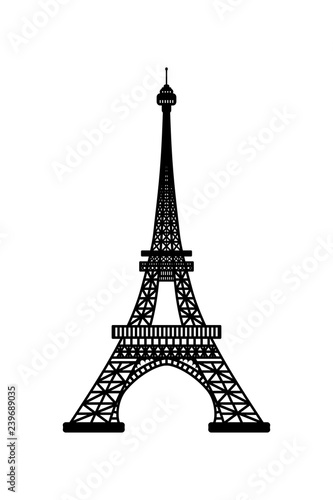 Photo Vector illustration of Eiffel Tower symbol of Paris, France