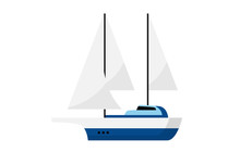 Two Masted Brigantine. Sailing...
