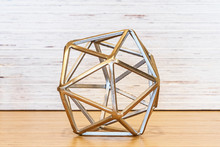 Metal Geometric Tabletop Sculpture
