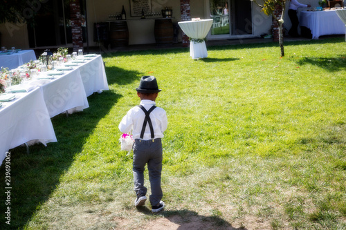 AWOL Ring bearer at Wedding Wallpaper Mural