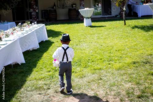 Photo AWOL Ring bearer at Wedding