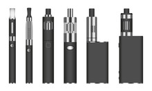 Electronic Cigarette Icon Set....