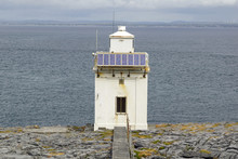 Wild Atlantic Way - Black Head Lighthouse On Galway Bay,County Clare, Ireland