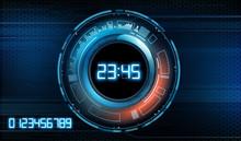 Futuristic Modern Clock Face W...