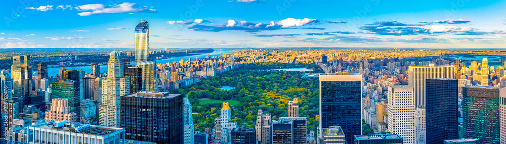 Fototapety, obrazy: New York City skyline and iconic buildings, United States of America