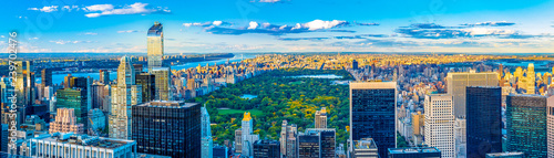 Poster New York New York City skyline and iconic buildings, United States of America