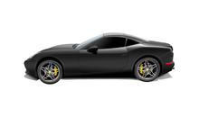 Black Sport Car Isolated On A White Background. 3d Rendering.