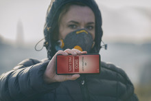 Woman Wearing A Real Anti-smog...