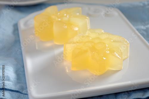 Agar agar citrus jelly dessert Canvas Print