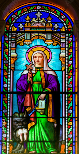 Saint Martha - Stained Glass in Antibes Church Wallpaper Mural