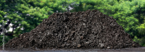 Valokuva  soil clay mountain pile, soil heap land for construction home or road way buildi