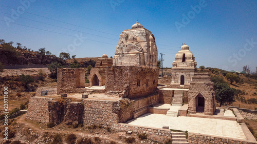 Keuken foto achterwand Oude gebouw Panoramic View to the Katas Raj Temple Ruins, Pakistan
