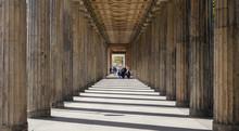 Altes Museum, On Museum Island, Berlin, Germany. Sun Pierces Between The Columns.