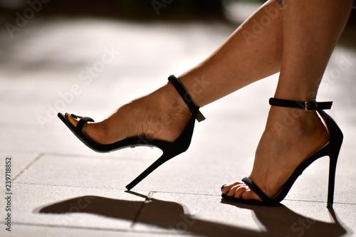 Canvas Print scarpa sandalo femminile da donna con tacco alto
