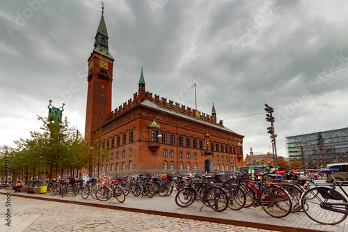 Copenhagen. City Hall. Canvas Print