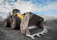 Wheel Loader In A Coal Mine