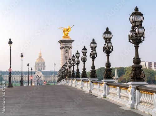 Obraz Most Alexandra III w Paryżu, Francja - fototapety do salonu