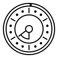 Point Clock Icon. Outline Poin...