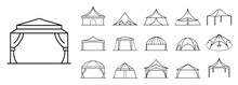 Canopy Icon Set. Outline Set O...