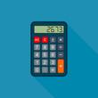 Calculator in flat design, vector isolated illustration