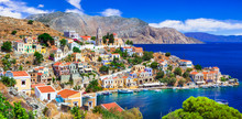 Traditional Colorful Greece Series - Beautiful Symi Island (near Rhodes) Dodecanese