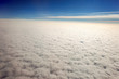 Aerial view of clouds. Flying to america