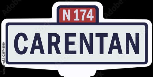 Fotografie, Obraz  CARENTAN - Ancien panneau entrée d'agglomération