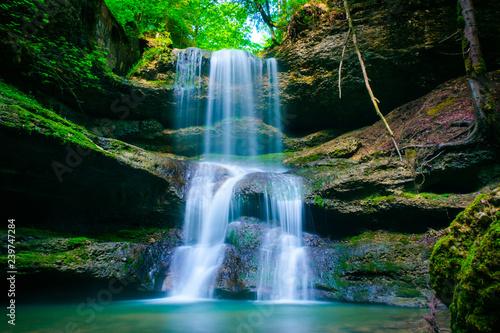 Poster Waterfalls Wasserfall im Allgäu