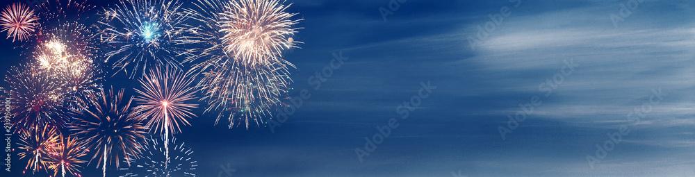 Fototapety, obrazy: Wunderschönes Feuerwerk