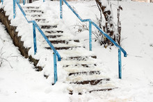 Snow Covered Stairs Dangerous ...