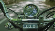 The Speedometer Of A Motorcycle