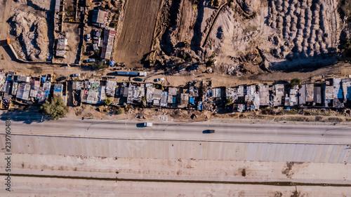 Refugee Camp in Tijuana Wallpaper Mural