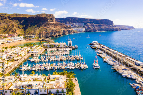 Foto op Aluminium Kust Puerto de Mogan town on the coast of Gran Canaria island, Spain.