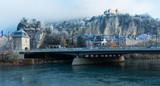 Fototapeta Londyn - Bastille hill in Grenoble, France