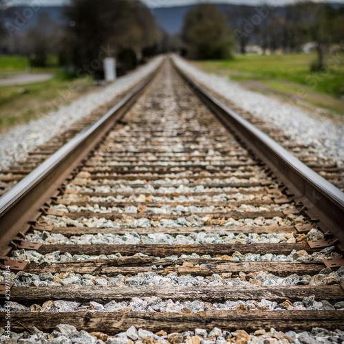 Fotografie, Obraz  Rails Stretching into the Distance