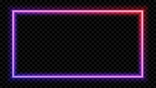 Square Purple And Red Neon Lig...