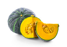 Green Pumpkin Isolated On The ...
