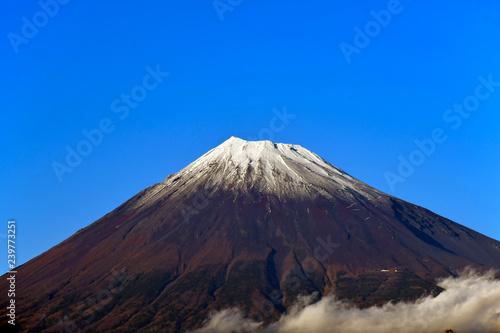 Deurstickers Canarische Eilanden Mount Fuji or Fujisan in Autumn-Winter season.