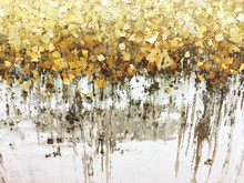 Texture Of The Gold Leaf, Gold...