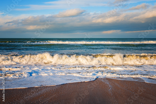 Stickers pour portes Eau Seashore, stormy sea