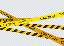 Caution Lines Isolated. Warnin...