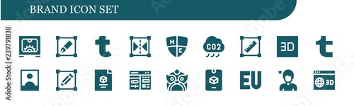Photo  Vector icons pack of 18 filled brand icons