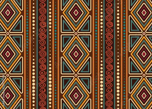 Aboriginal dot art vector seamless pattern background. Wallpaper Mural
