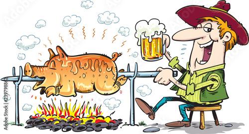 Valokuva  pig roast
