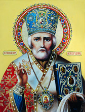 Orthodox Icon Saint Nicholas T...