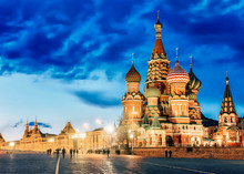 St. Basil's Cathedral Night Vi...