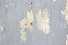 Old Wooden Texture With Blue P...