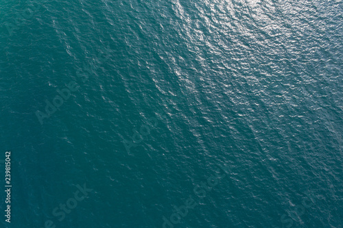 Tuinposter Zee / Oceaan Aerial drone view of beautiful sea wave surface