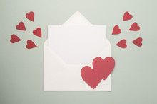White Envelope With Hearts